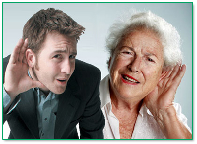 Two people with hearing loss in Perth